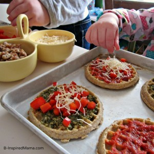 Making-Kids-Pizza-with-Eggo-Waffles-at-B-InspiredMama
