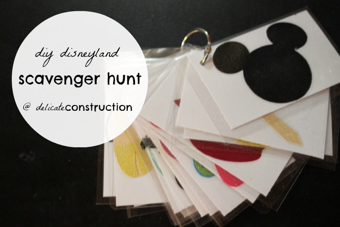 diy disney scavenger hunt