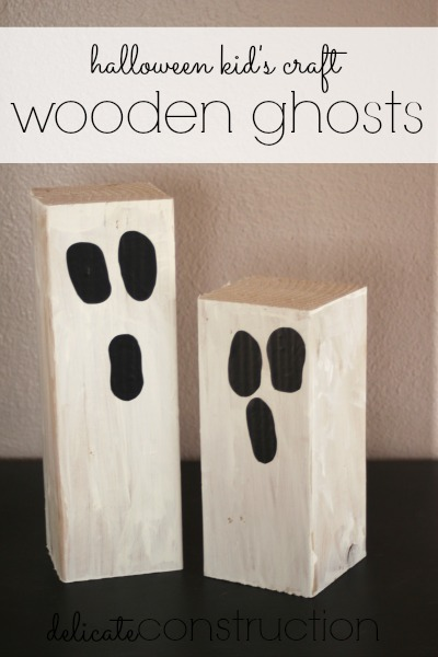 wooden ghost kids craft