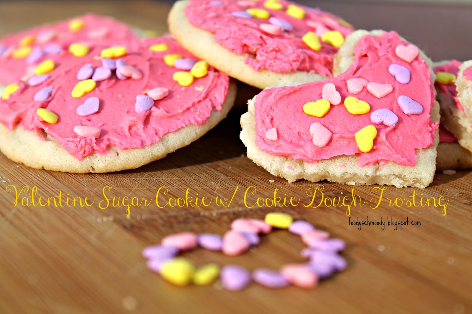 valentine cookie with cookie dough frosting