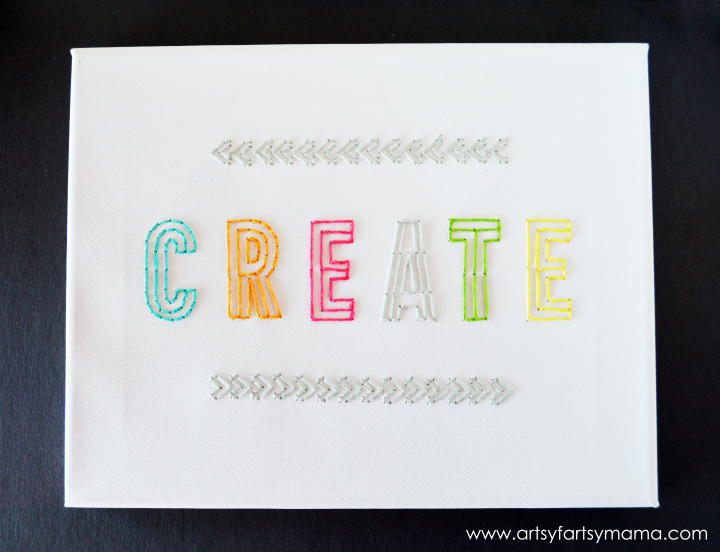 Create Embroidered Canvas