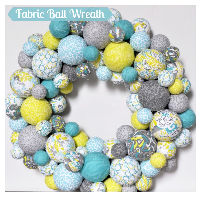 Fabric-Ball-Wreath-for-Spring