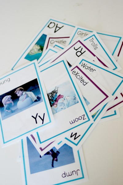 free frozen printable alphabet 2