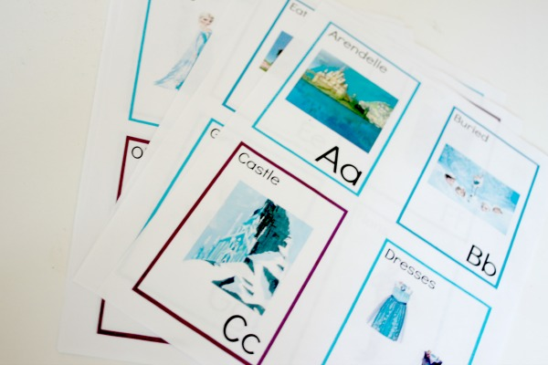 free frozen printable alphabet