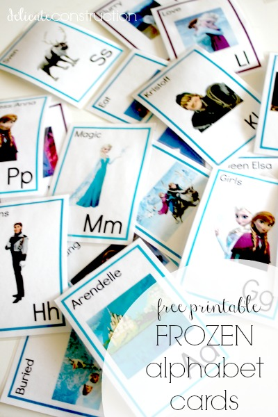 free printable frozen alphabet