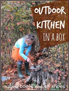 cooking in the forest with our kitchen in a box from rubber boots and elf shoes