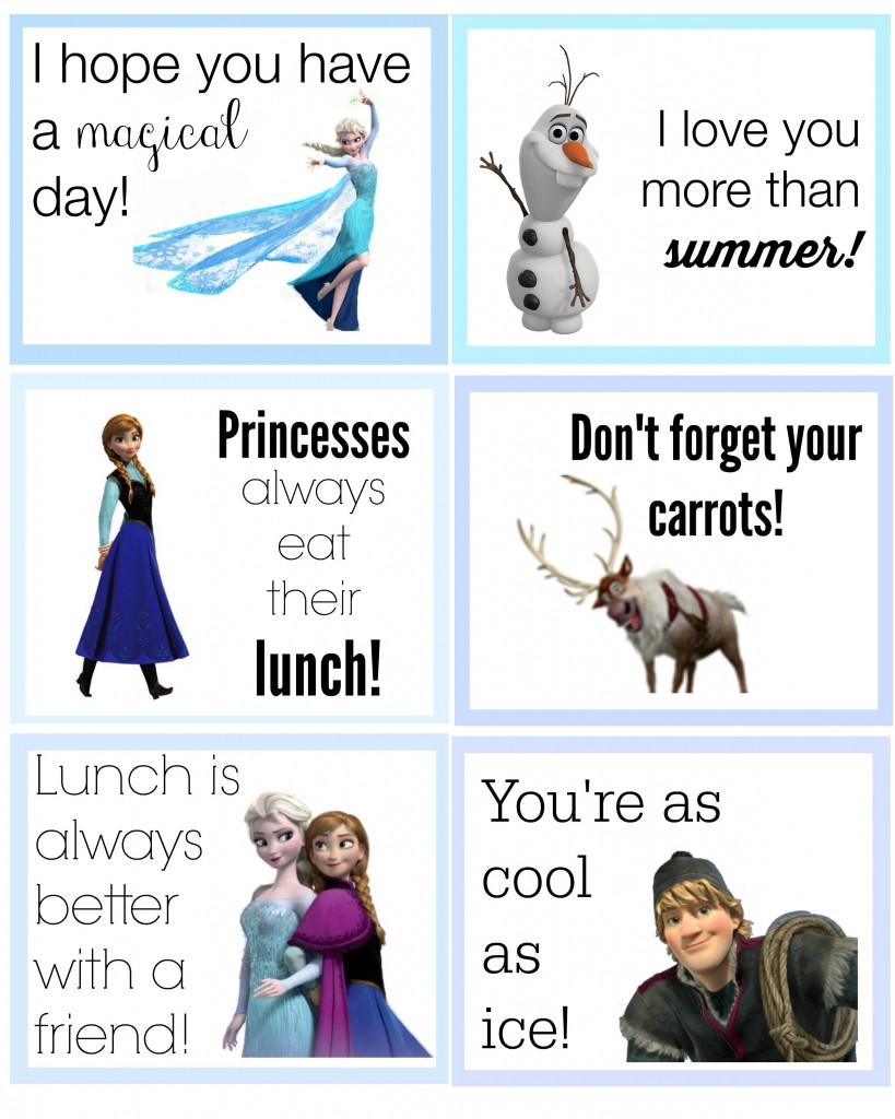 frozen lunch box notes