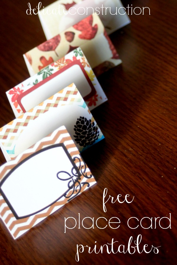 place card printables