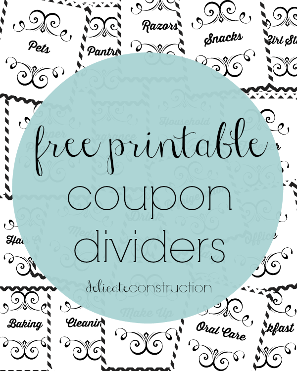 Coupon dividers
