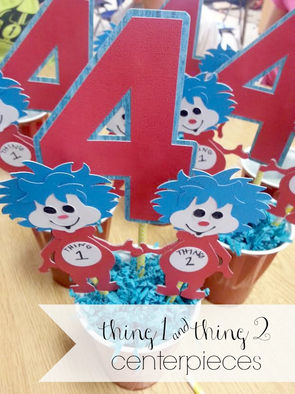 thing 1 & thing 2 centerpieces