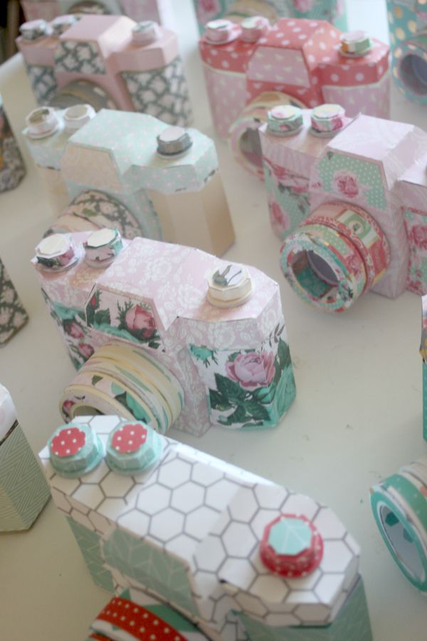 paper crafted camera centerpieces 2