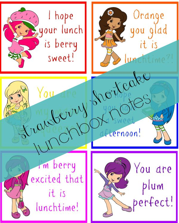 Strawberry Shortcake Lunch Box Notes2