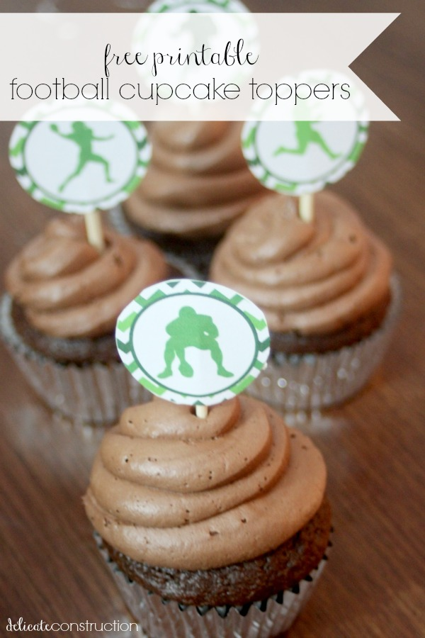 football cupcake toppers 2