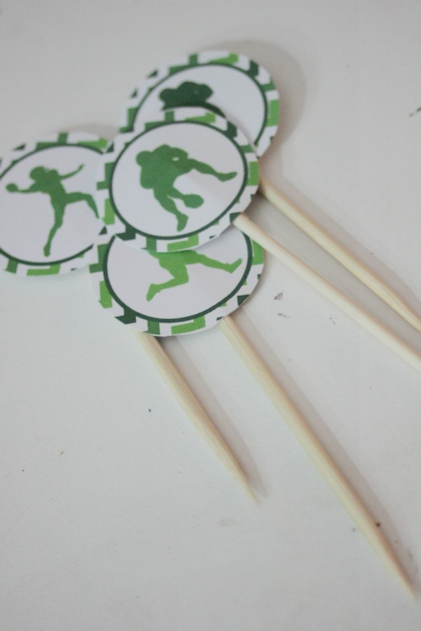 football cupcake toppers 4