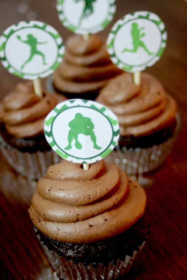 football cupcake toppers 5