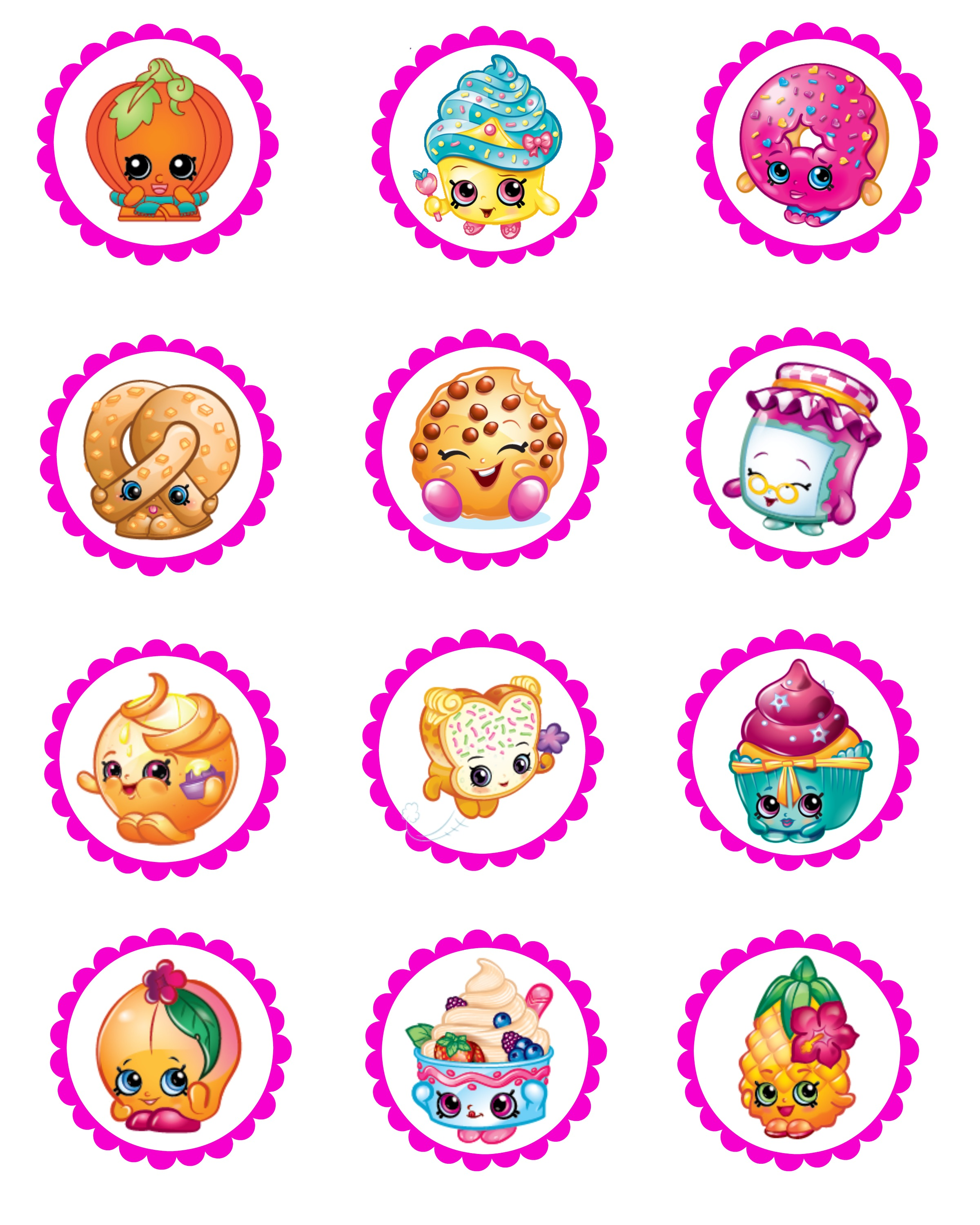 It's just a picture of Free Printable Shopkins Food Labels within easy
