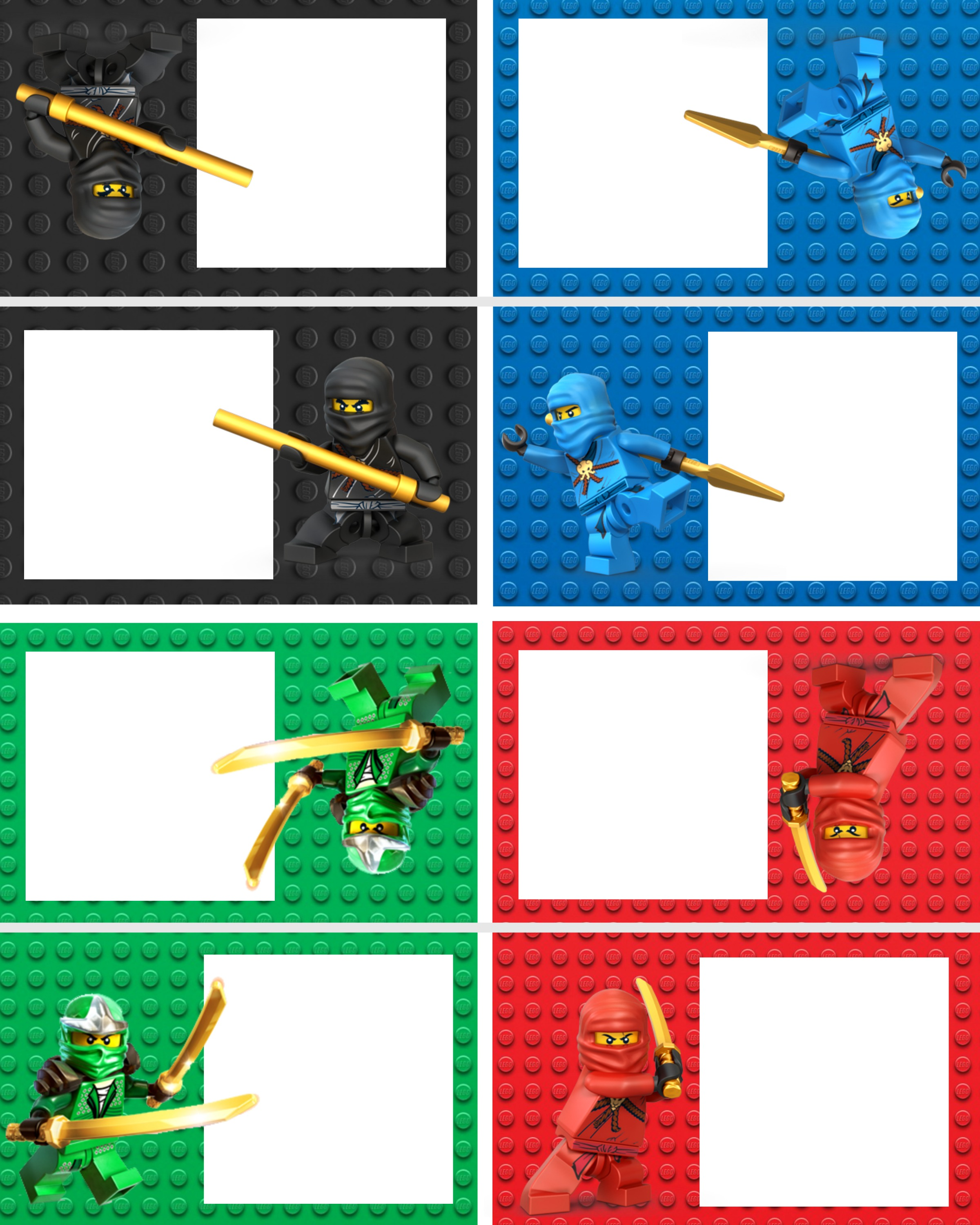 Ninjago Food Labels