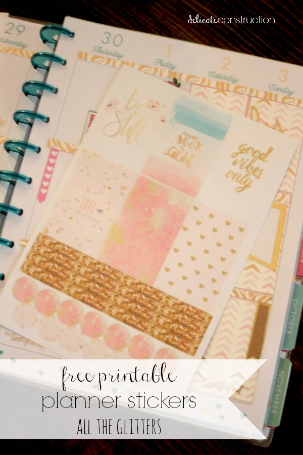 All that glitters planner stickers 2