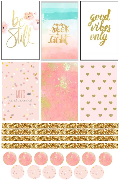 All That Glitters Planner Stickers