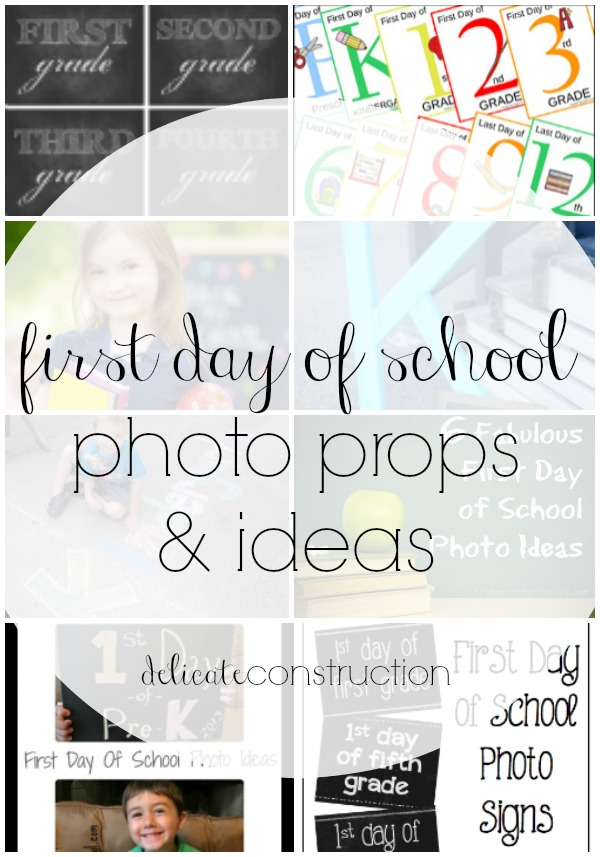 1st day of school photo ideas