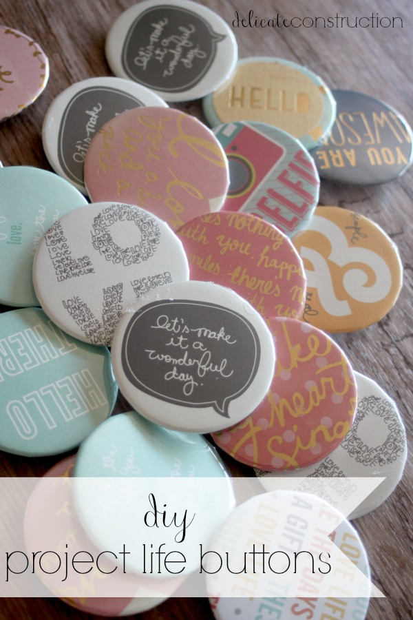 project life buttons
