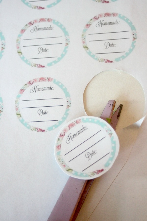free printable jar labels
