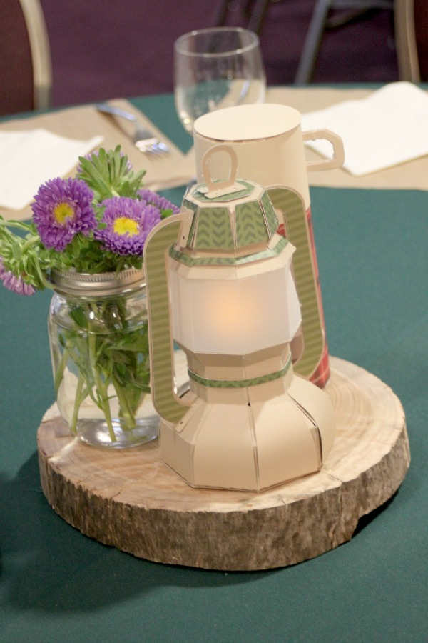 camping themed centerpieces 2