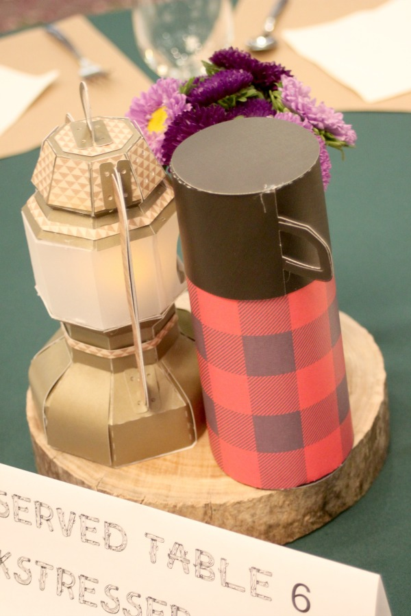 camping themed centerpieces 3
