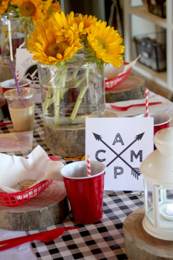 camping themed tablescape 5