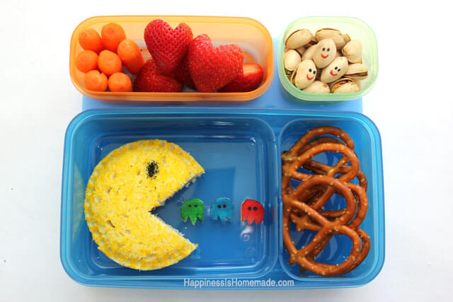 PacMan-Bento-Lunch-With-Rubbermaid-LunchBlox